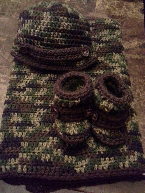 Camo-baby crochet!!! | baby blanket crochet | Pinterest | Patrones y ...