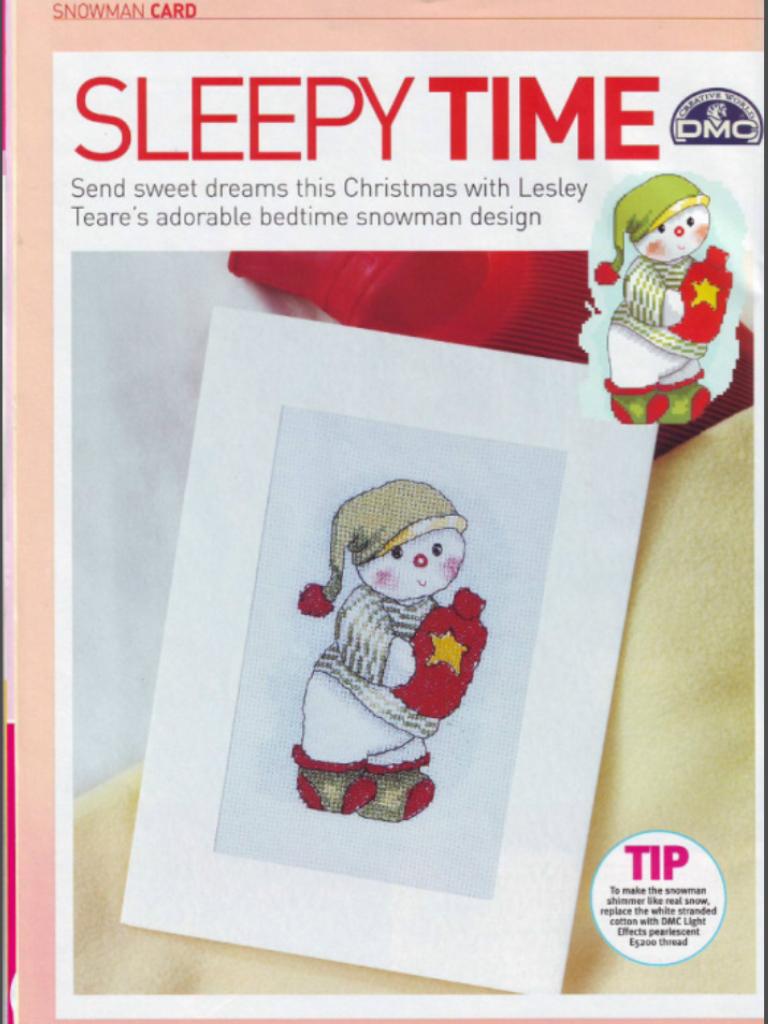 Sleepy Time Cross Stitch Card Shop Issue 51 November