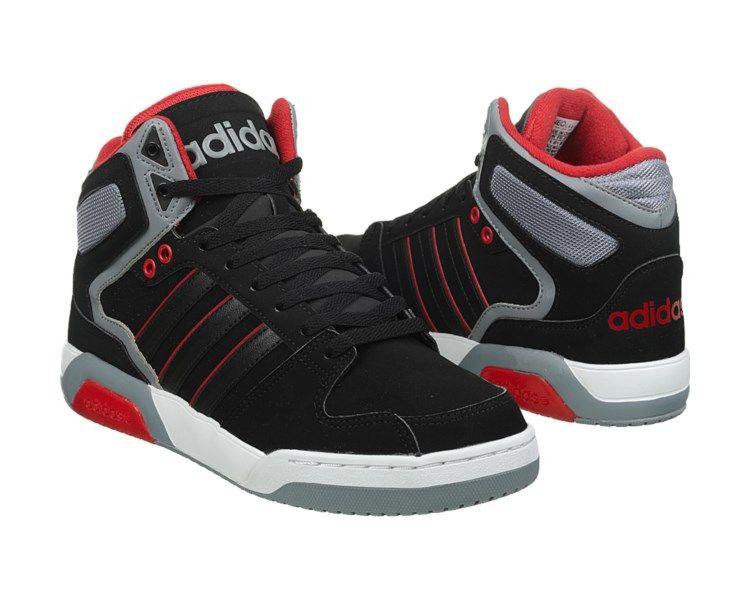 adidas Neo BB9TIS High Top Sneaker Black/Grey/White/Red   Sneakers ...