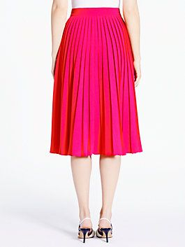 f0b4a0f1a accordion pleat crepe skirt, aladdin pink | Brands We Love ...
