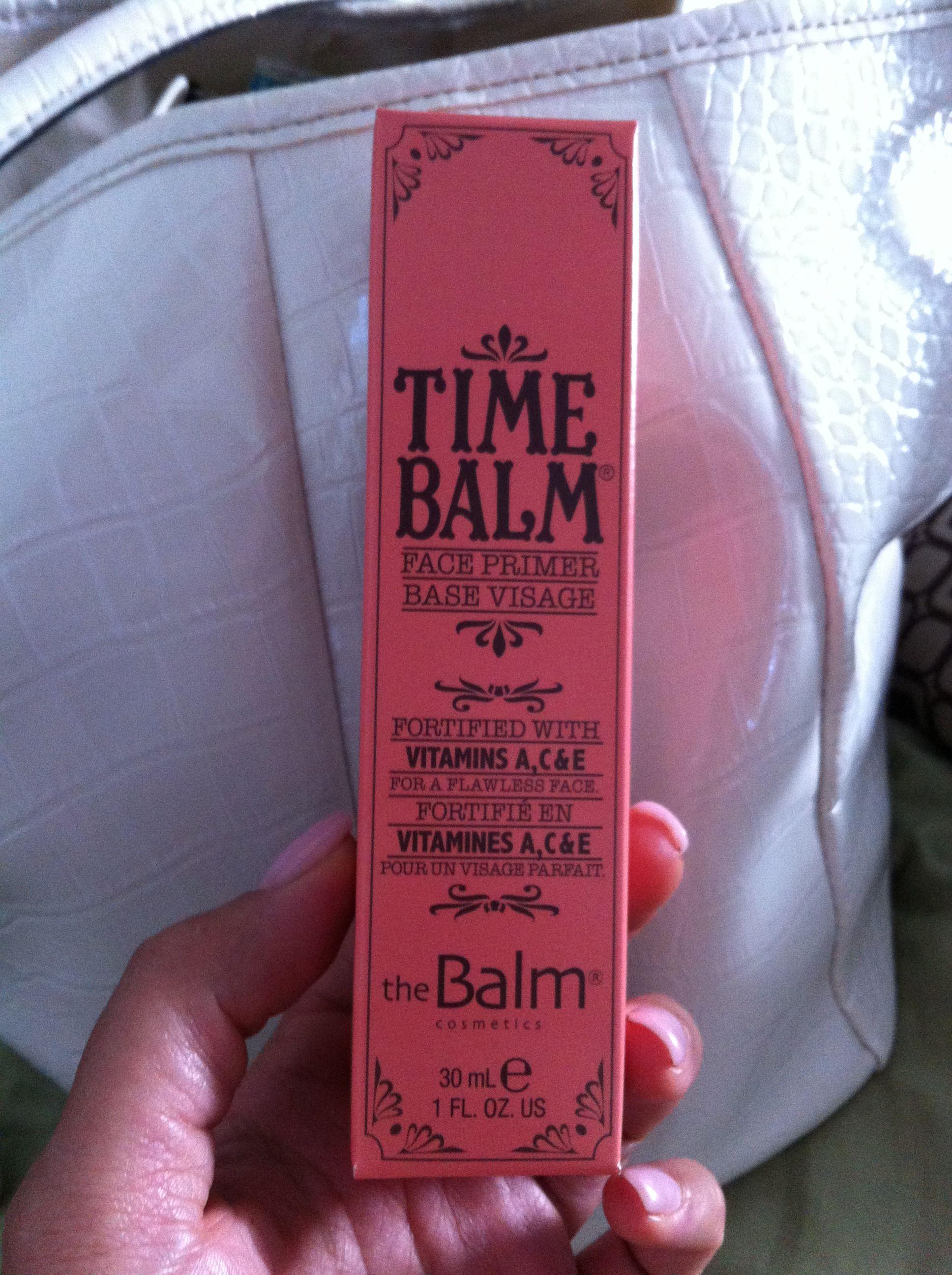 Time Balm face primer....a must-have in my makeup bag!