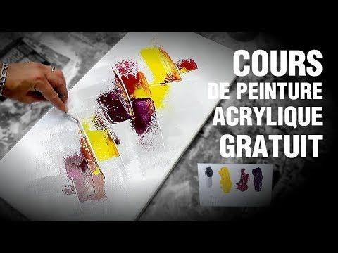 🎨 COURS DE PEINTURE acrylique / peinture abstraite FACILE (TUTO 2020)
