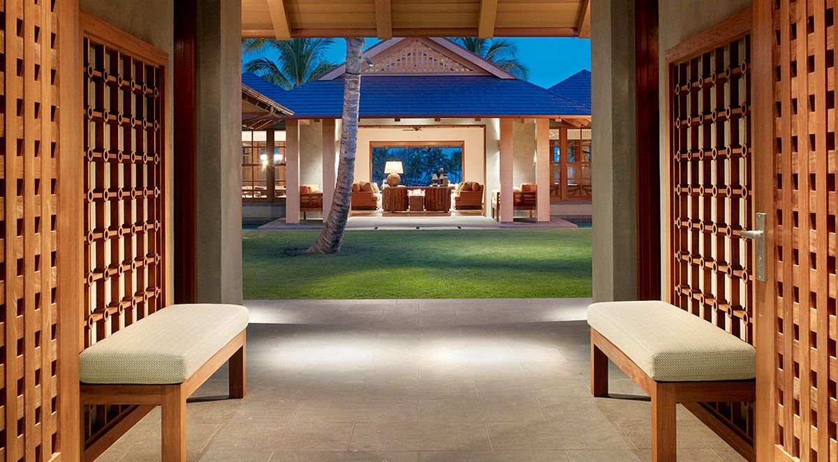 Endearing Wooden Home With Spacious Area In Hawaii Interesting Entrance To The Cloister House Door And Ornaments Ne