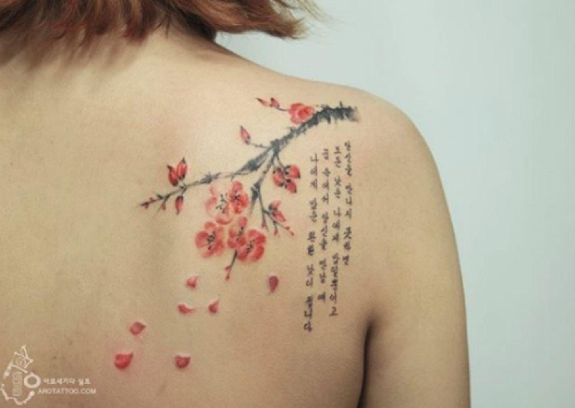 15 beautiful tattoos that look like watercolour paintings