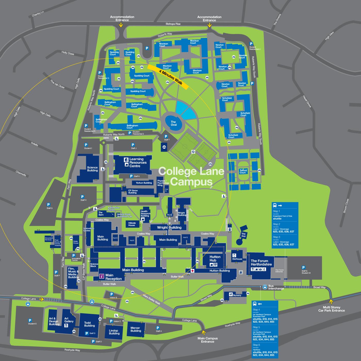 hertfordshire university campus map Fwdesign Wayfinding Amp Design Consultants University Of hertfordshire university campus map