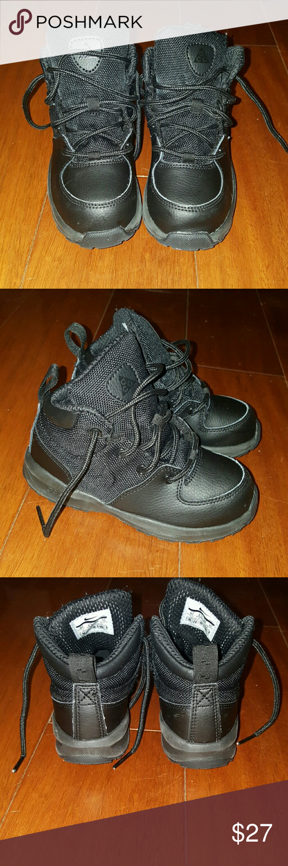Boys Black Nike Boots (Preschool)
