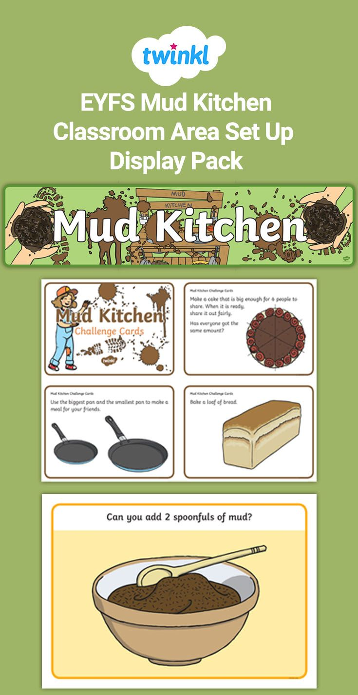 EYFS Mud Kitchen Classroom Area Set Up Display Pack in ...
