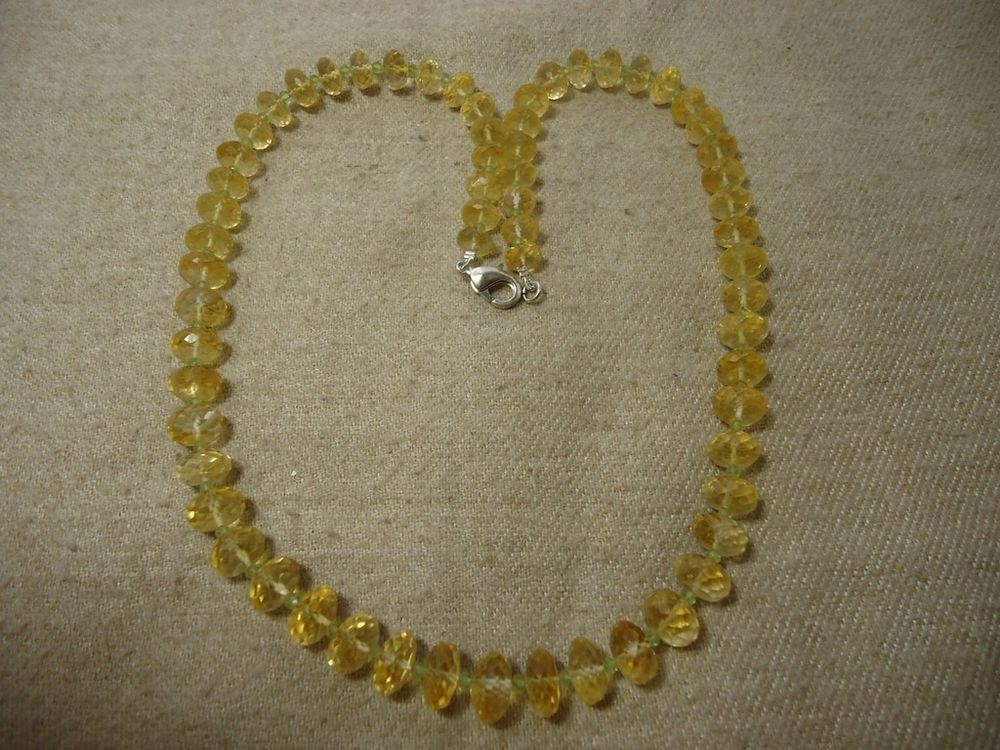 """Aaa+ Natural Golden Topaz Rondelle Faceted 20"""" Beads Necklace, 255 Cts. #Handmade #Faceted"""