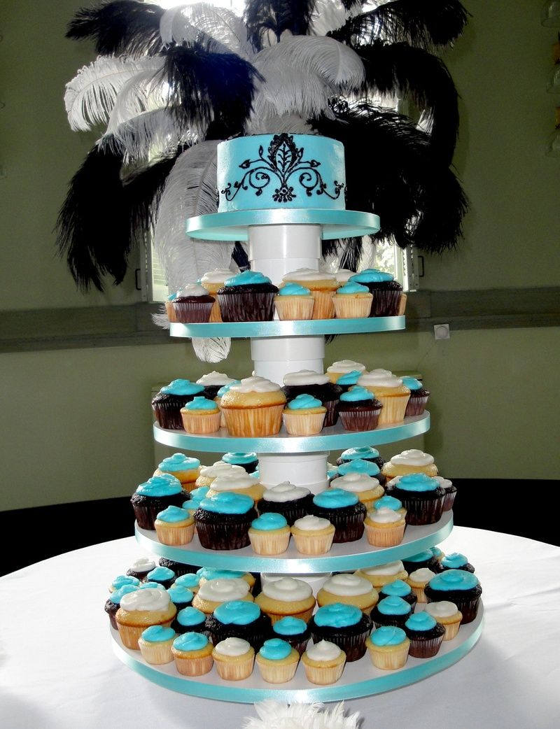 pictures of wedding cakes made out cupcakes blue wedding cake cupcakes events 18466
