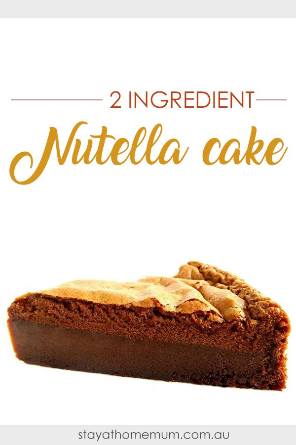 This super easy 2-Ingredient Nutella Cake is so easy to make