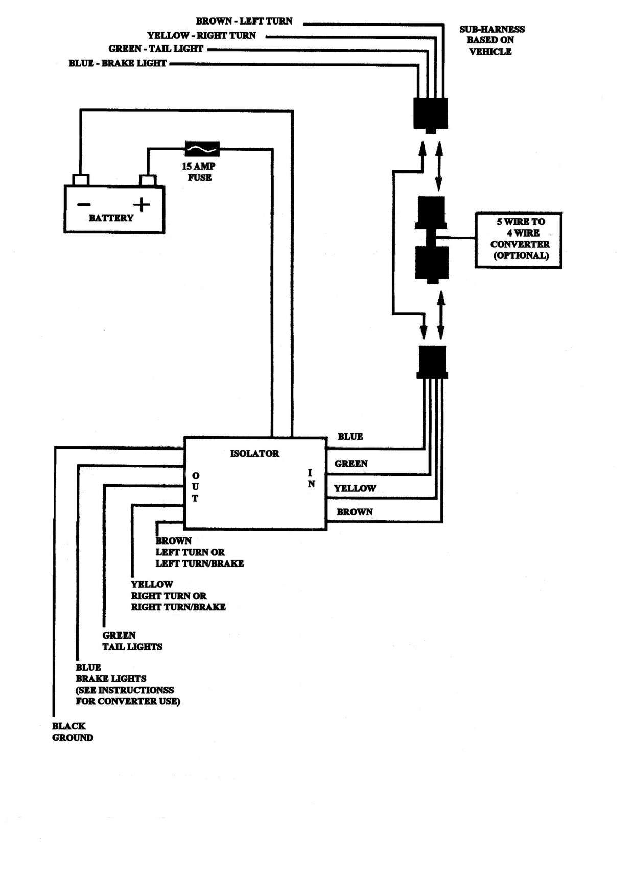 4 Wire Toyota Tacoma Trailer Wiring Diagram