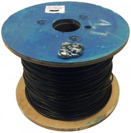 250ft Black Vinyl Coated Steel Aircraft Cable Vinyl Black Vinyl Steel