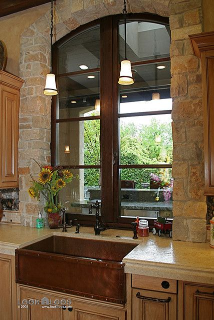 Copper Farmhouse Kitchen Sink Casas De Fincas Casas Rusticas Hogar