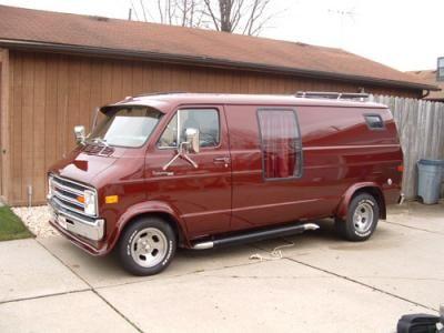 Old Custom Dodge Van 1978 Full Size Michigan