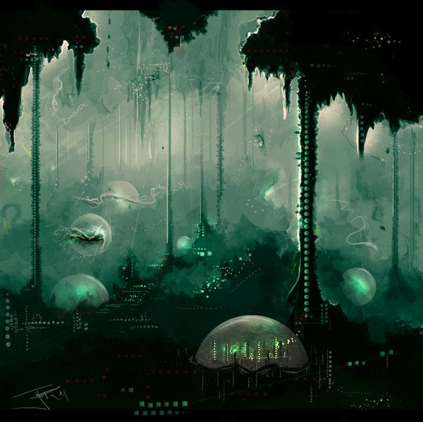 Underwater City Thumb By Thejfp On Deviantart Underwater City Fantasy Art Environment Concept Art
