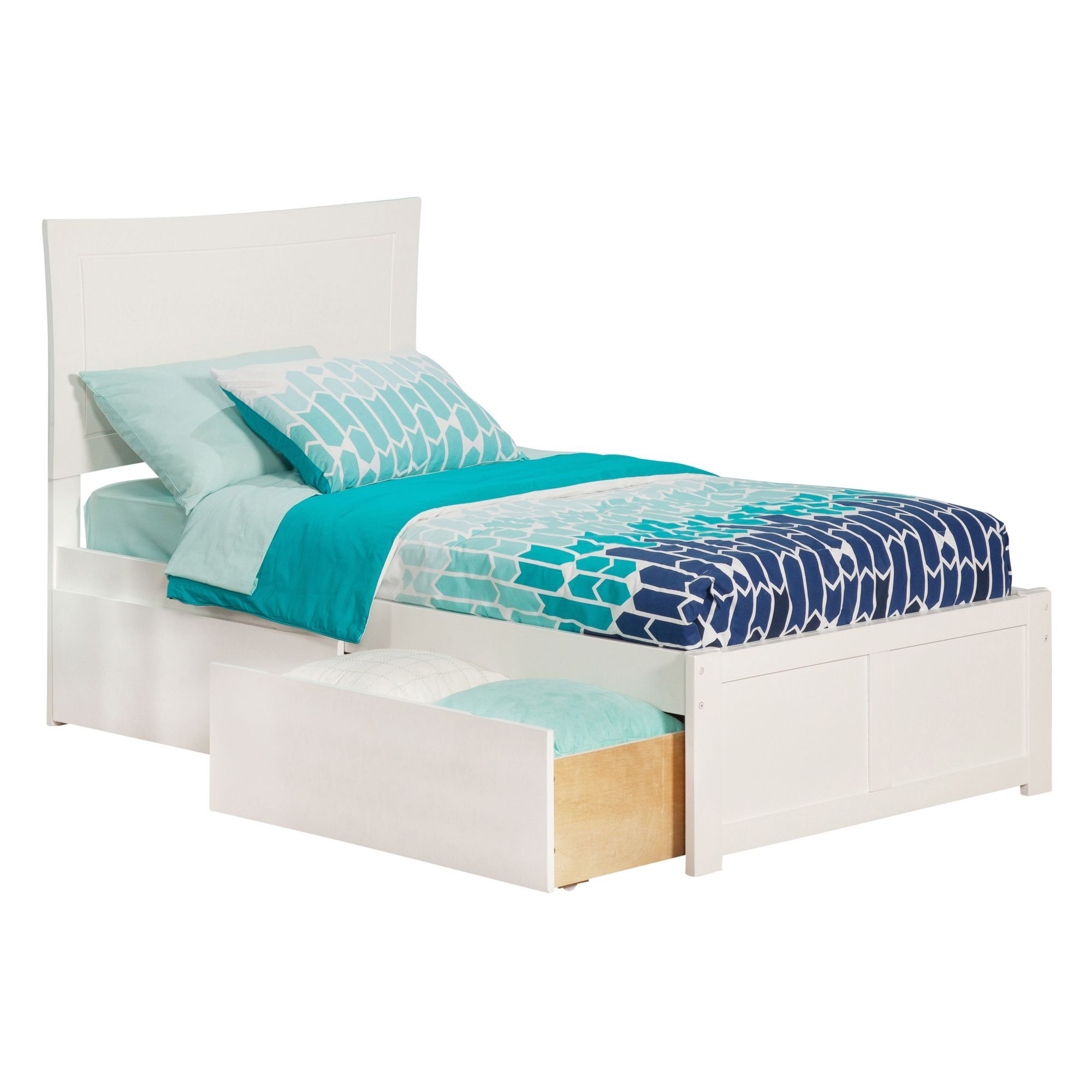 Metro Twin XL Platform Bed with Flat Panel Foot Board and