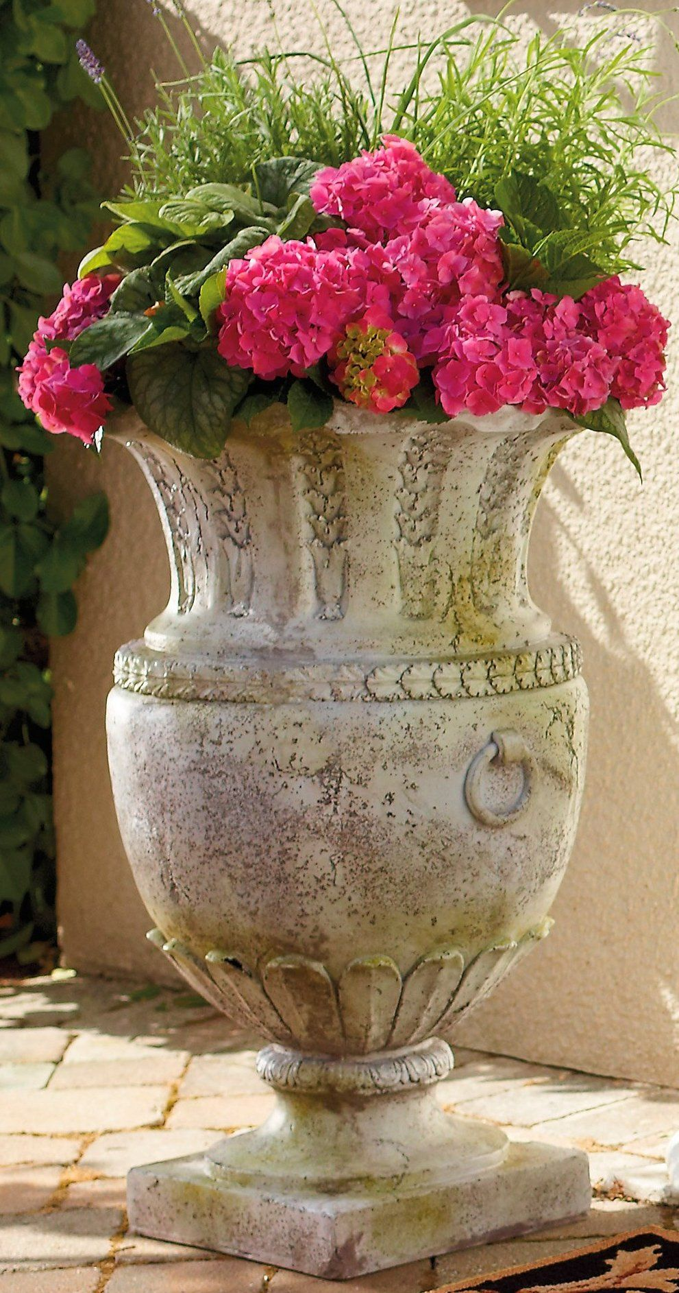 """Standing a grand 30"""" tall, this Avignon Vessel Outdoor"""