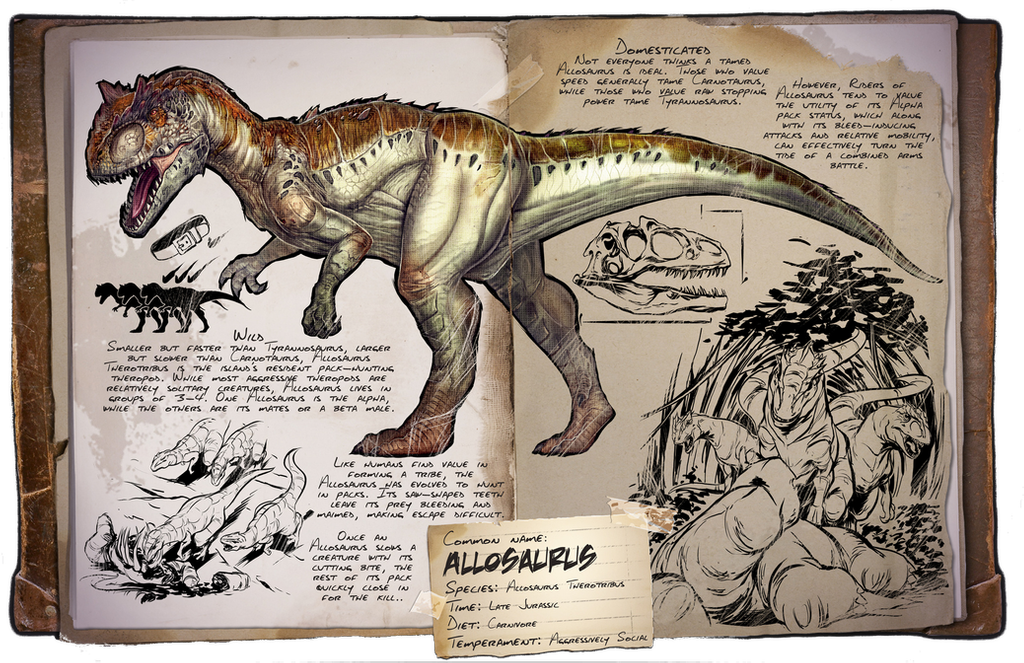 Ark Survival Evolved Dossiers Allosaurus By Djdinojosh On Deviantart Ark Survival Evolved Game Ark Survival Evolved Ark