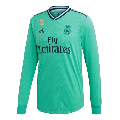 19 20 Real Madrid Third Away Green Long Sleeve Jerseys Shirt Cheap Soccer Jerseys Shop Long Sleeve Jersey Shirt Long Sleeve Jersey Jersey Shirt