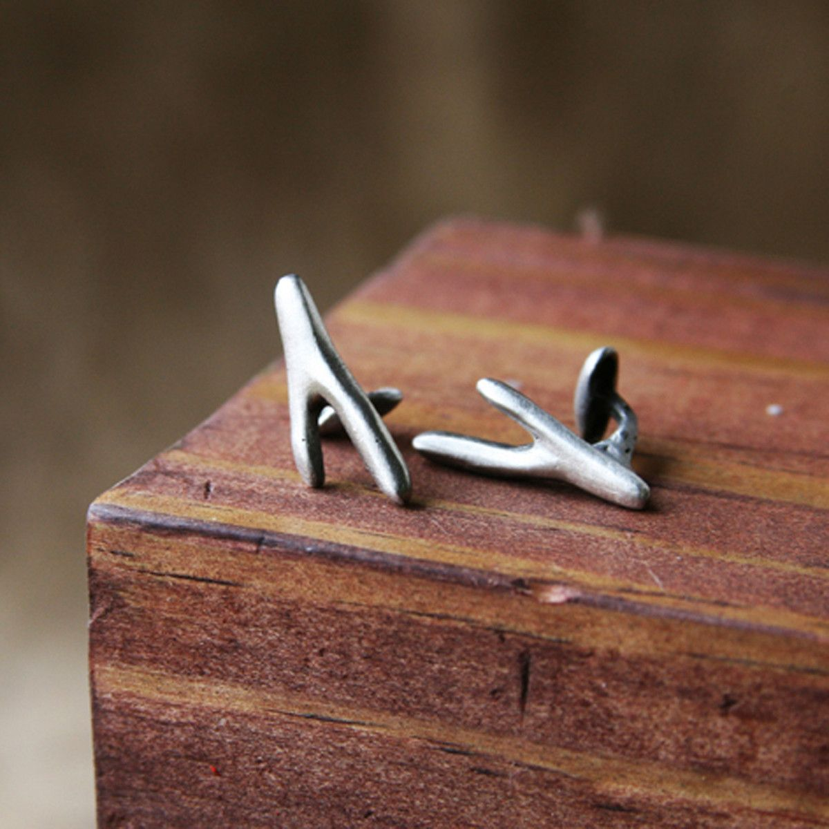Fab.com | Pewter Twig Cufflinks