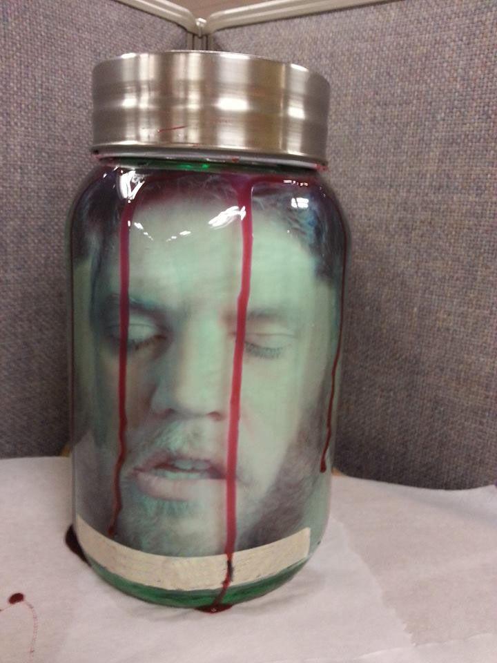 Head in a Jar - Put it in the fridge at work!