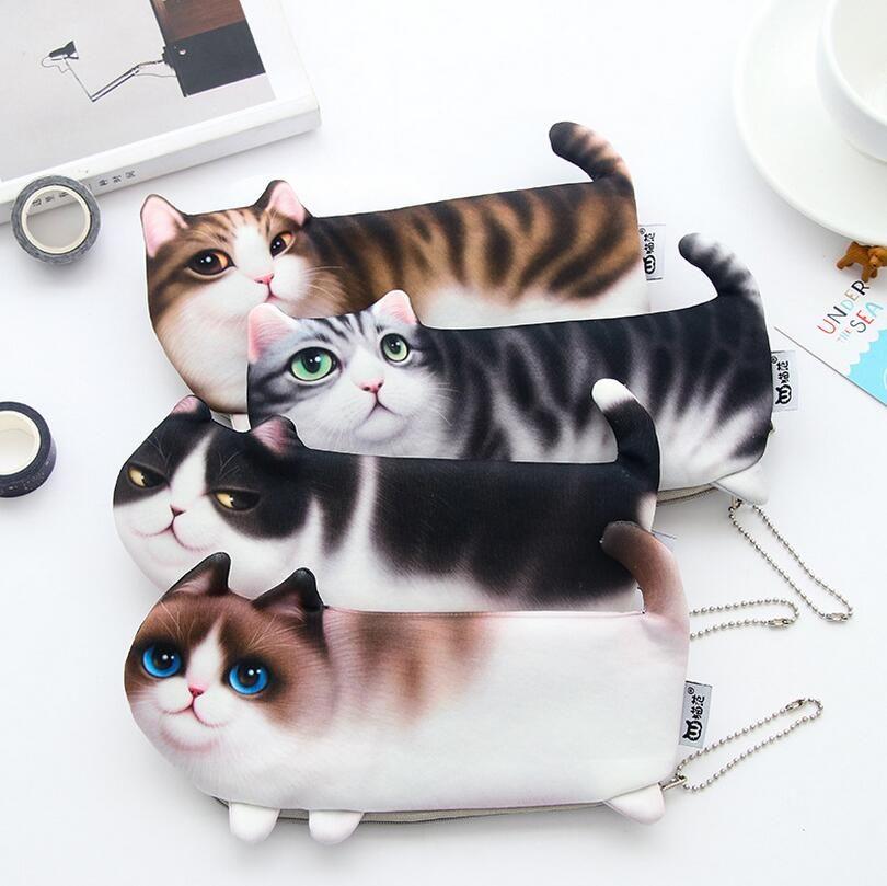 Kinder Portemonnaie Damen Reißverschluss Geldbörse Katzen Baby