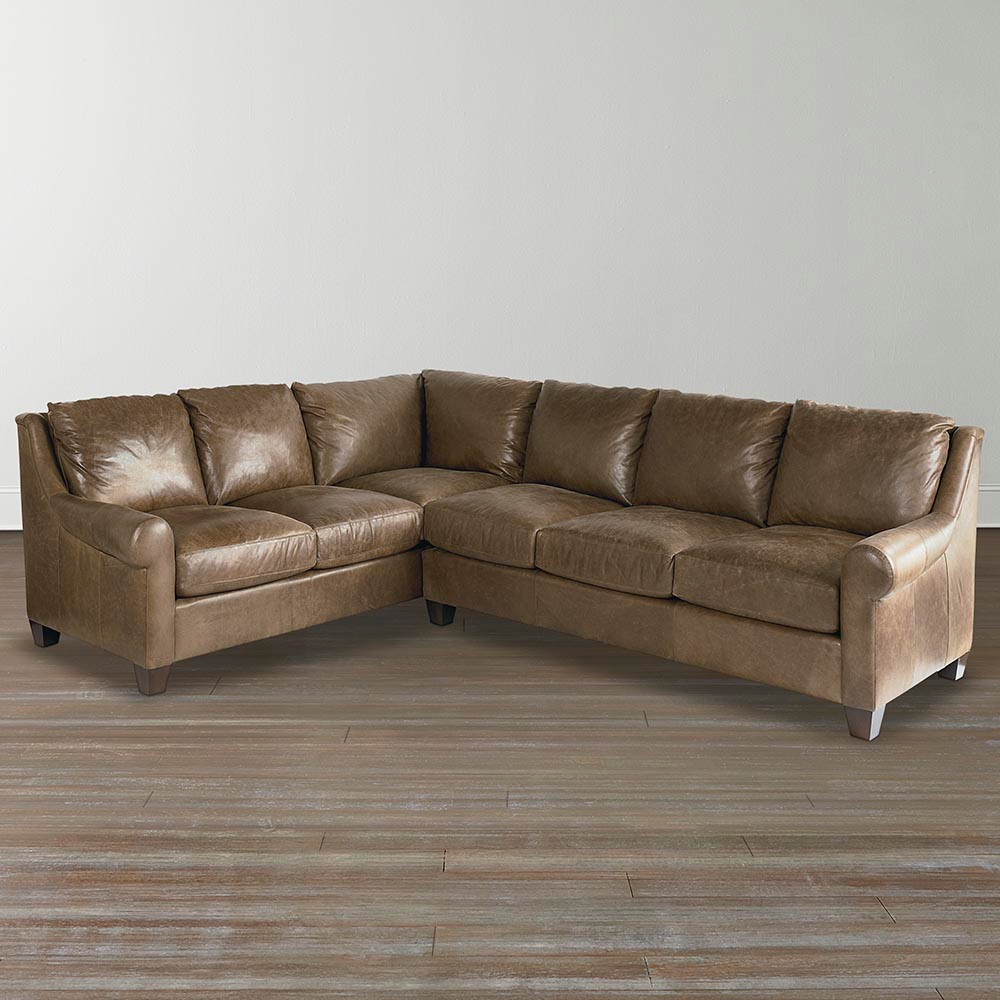 Ellery Leather L Shaped Sectional Leather L Shaped Couch Bassett Furniture Leather Sectional Brown leather l shaped couch