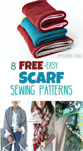 9 Free Scarf Sewing Patterns Free Sewing Patterns Pinterest