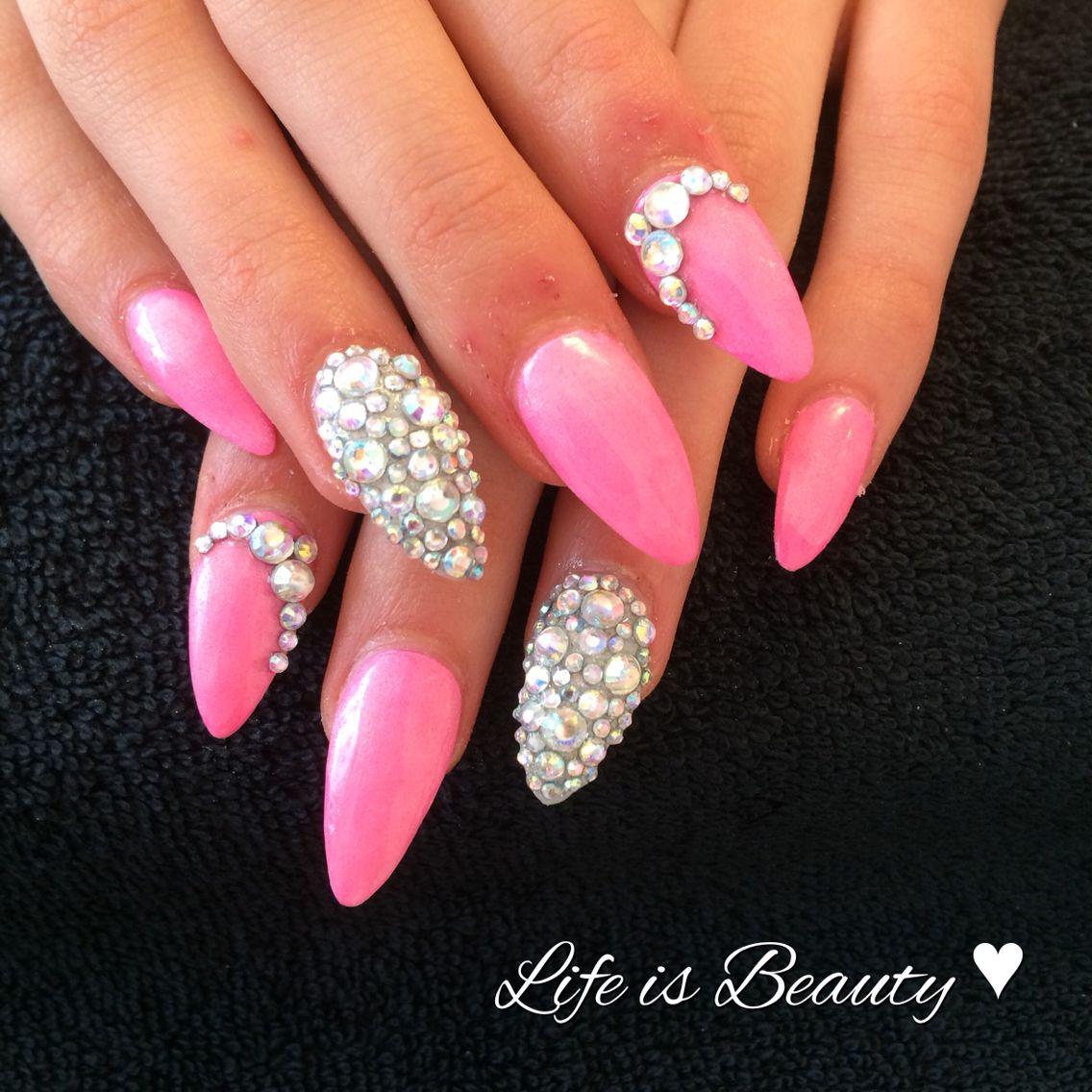 Pink with diamonds