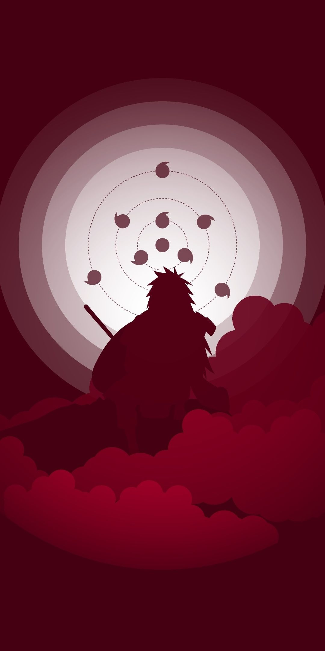 Naruto Anime Madara Uchiha Art 1080x2160 Wallpaper With