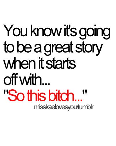 LOVE those stories!