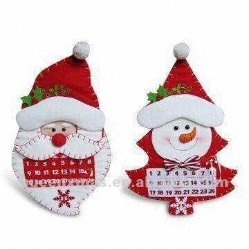 Santa mu eco de nieve de dise o de la tela de navidad - Adornos navidad tela ...