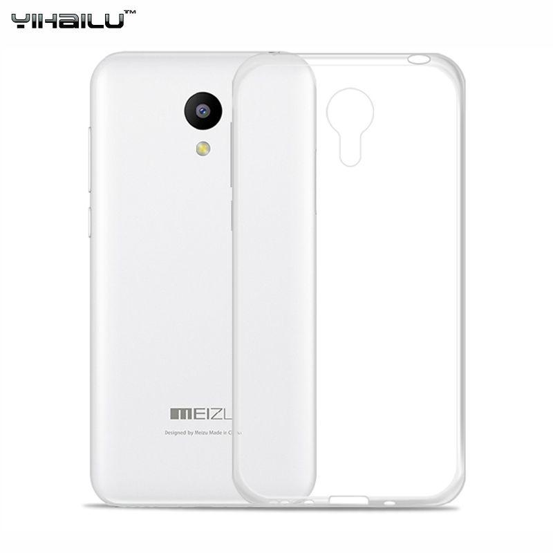 Yihailu ل Meizu حالة M2 البسيطة 5 0 بوصة حالة تبو لينة مرنة رقيقة جدا واضح شفاف ل Meizu M1 البسيطة العودة الغلاف Clear Cases Transparent Silicone Case