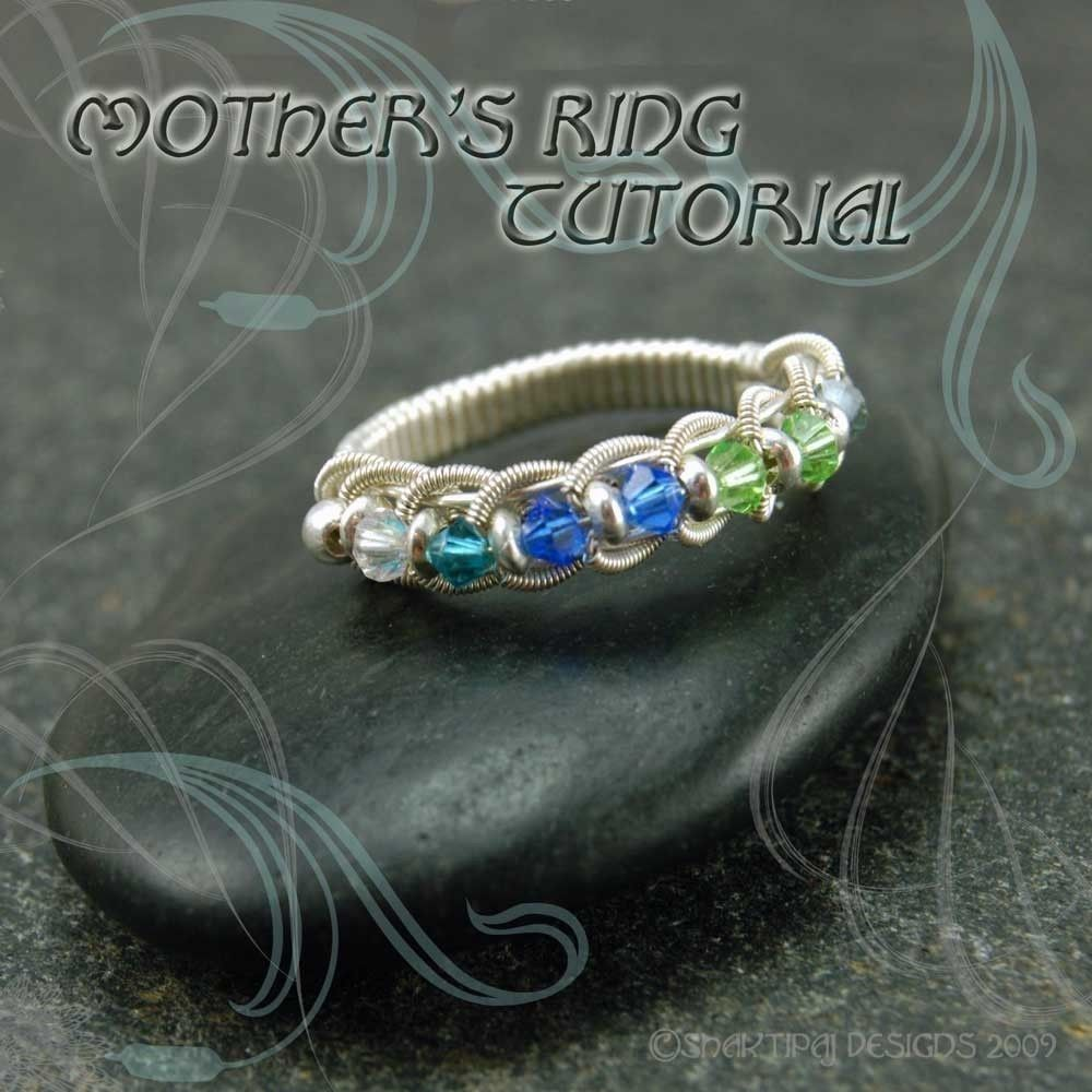Mother\'s Birthstone Coiled Woven Wire Ring PDF Jewelry Tutorial ...