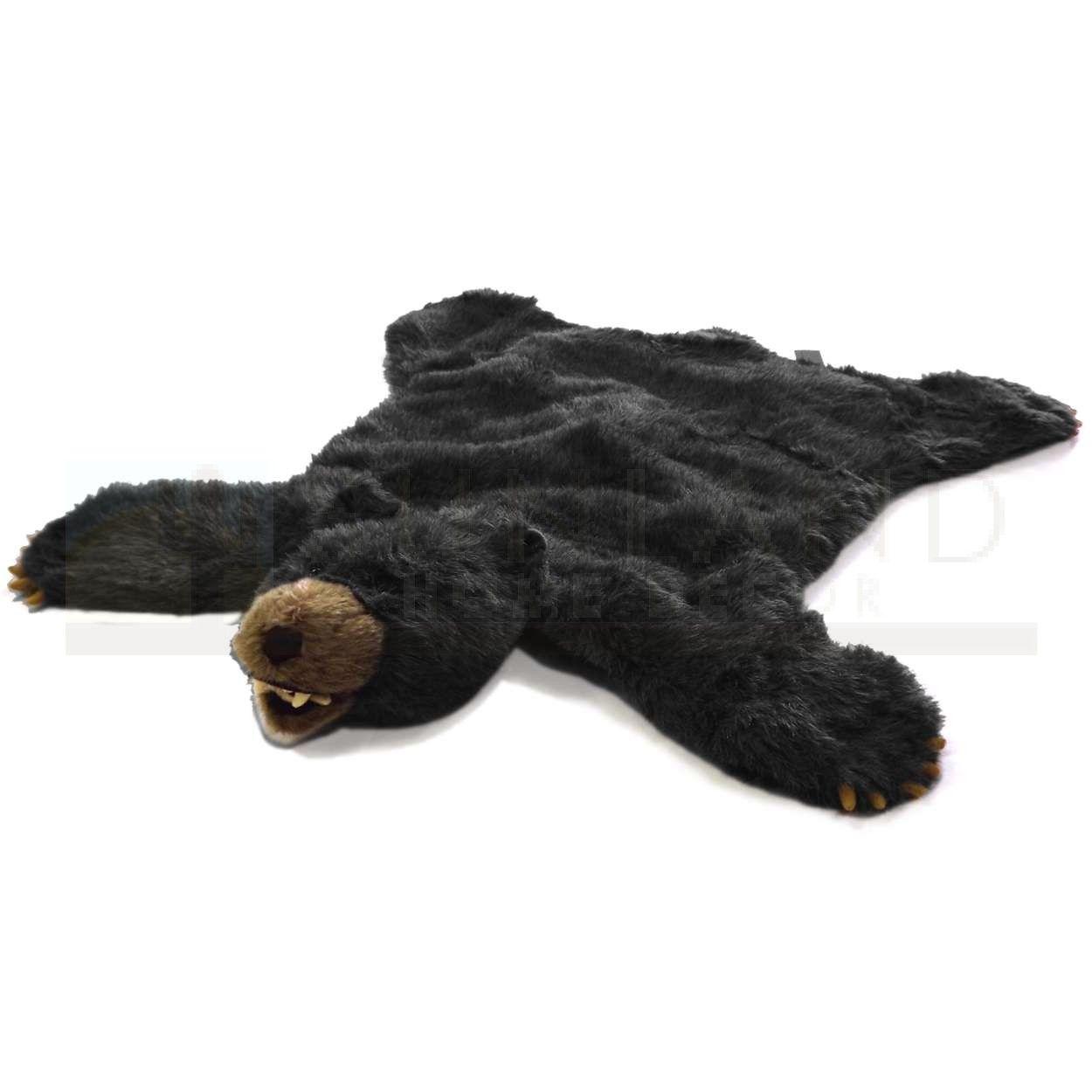 Sbr201 Plush Animal Rug 36in Black Bear