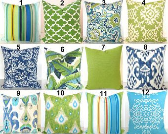 Green Outdoor Pillows Lime Green Pillow Blue Outdoor Throw Pillow Covers  Lime Teal Outdoor Pillow Covers