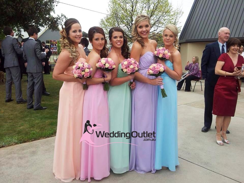 Rainbow Wedding Theme Bridesmaid Dresses