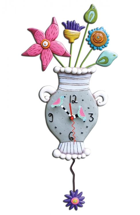 Charming Fresh Flowers Duvar Saati / Allen Design Fresh Flowers Clock Http://www.