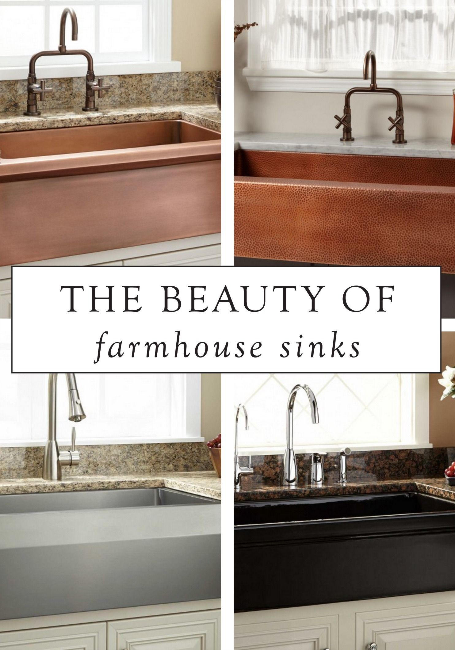 We adore farmhouse sinks Available in a variety of styles they are