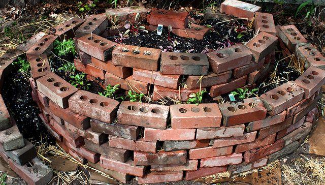 Brick Spiral Garden Spiral Garden Brick Path Garden