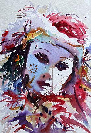 Venetian Mask Jake Winkle Watercolor Artists Loose Watercolor