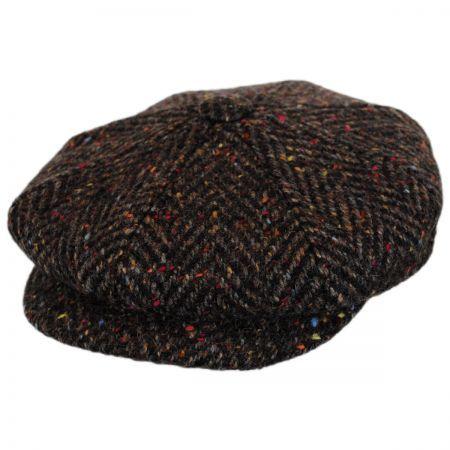 c253004d City Sport Caps Large Herringbone Donegal Tweed Wool Newsboy Cap