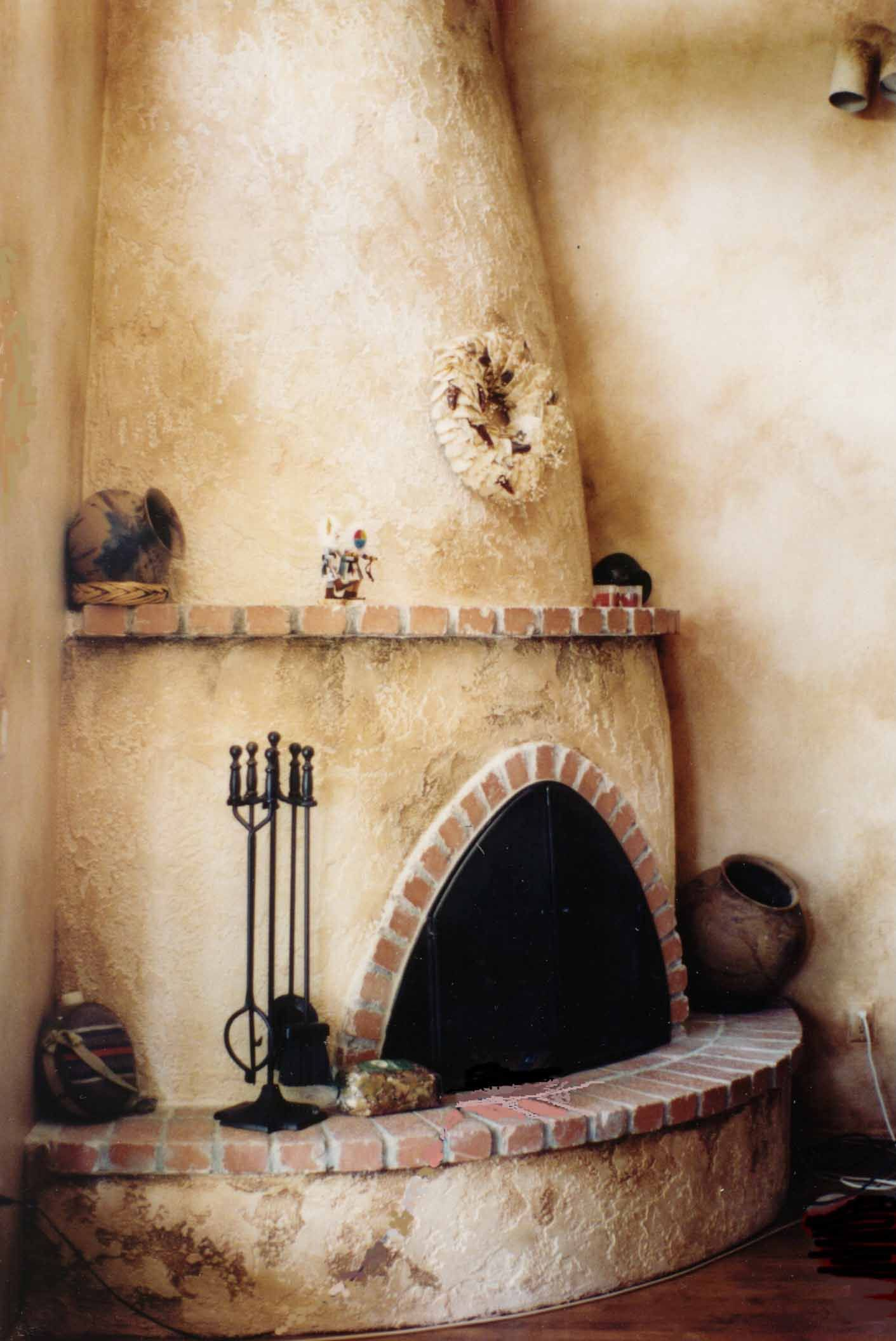Faux Painted Fireplace Fireplaces Adobe Fireplace