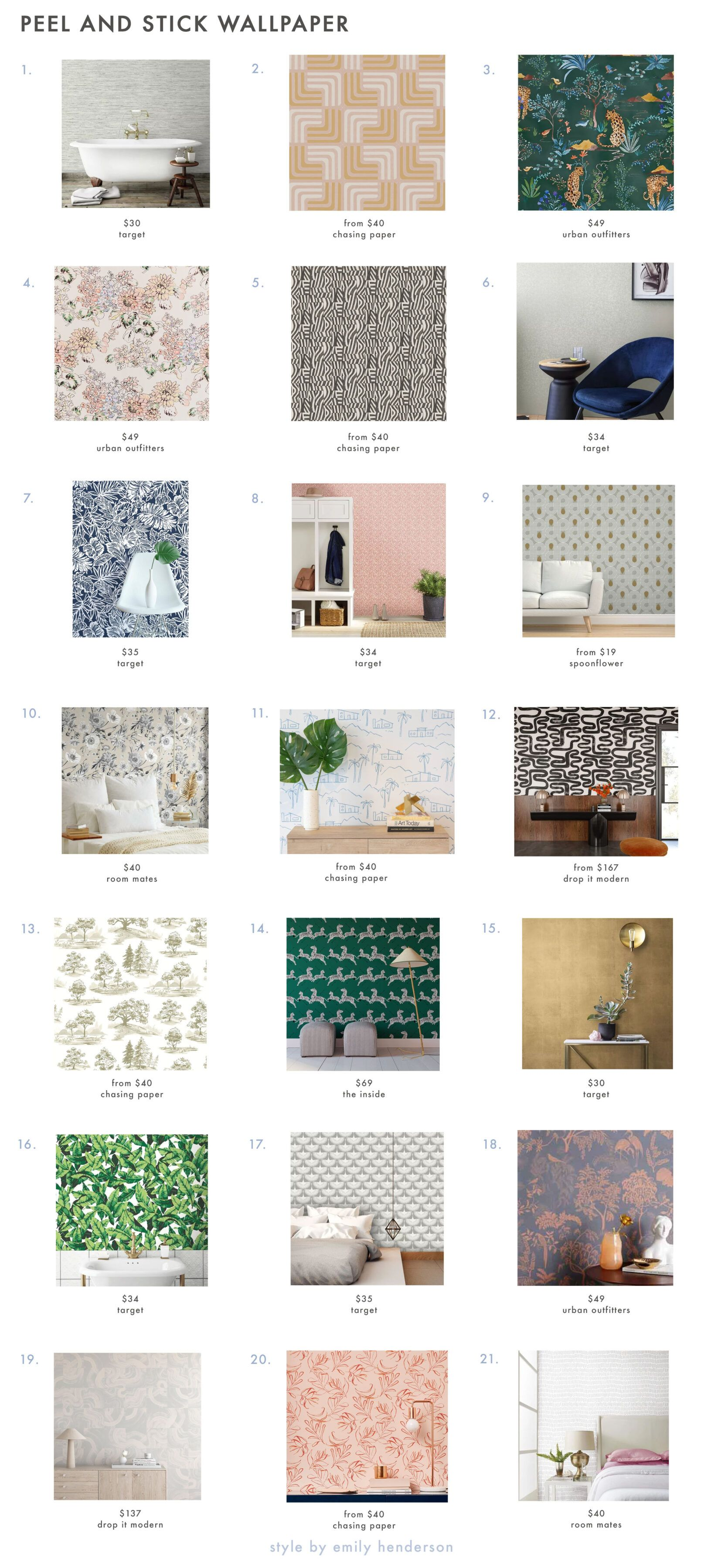 The Best Peel And Stick Wallpapers For Your Rental Apartment Or Really Any Space Help Mallory Choose One For Her Bathroom Emily Henderson Peel And Stick Wallpaper Emily Henderson