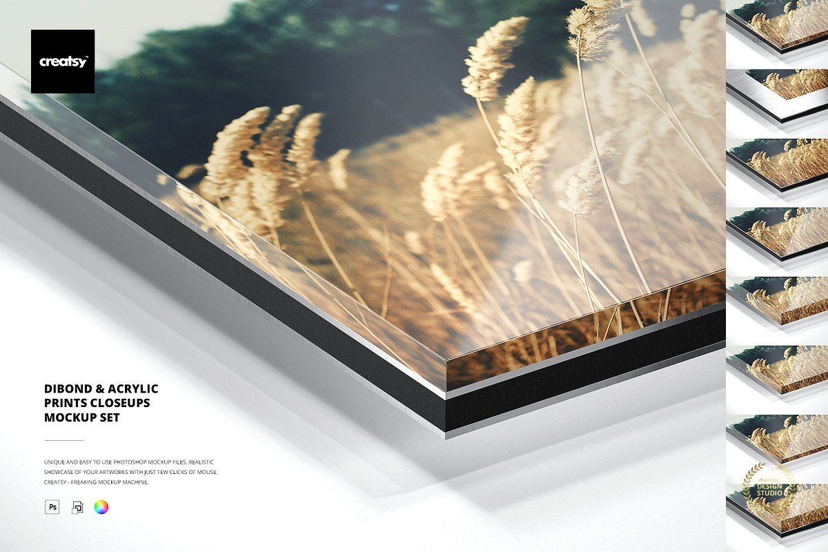 Dibond & Acrylic Closeups Mockup Set in 2020 Poster