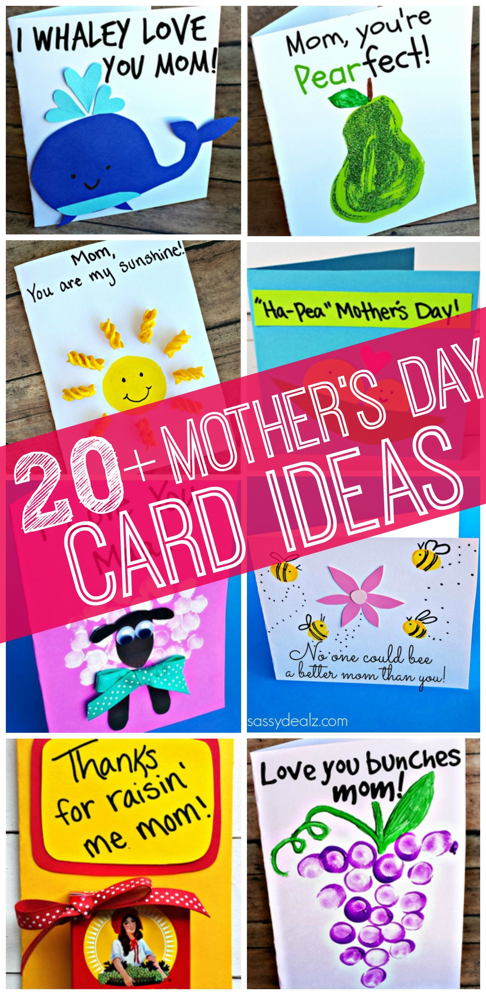 Easy Mother 39 S Day Cards Crafts For Kids To Make