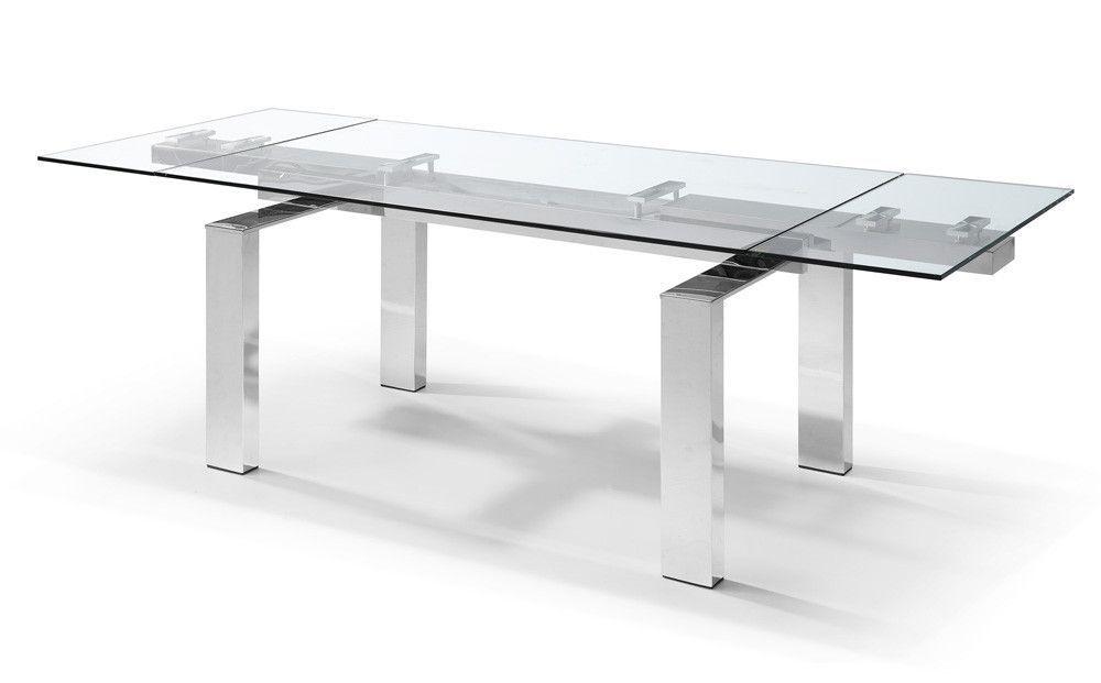 Buy Whiteline Dt1234 Cuatro Extendable Dining Table Aluminum