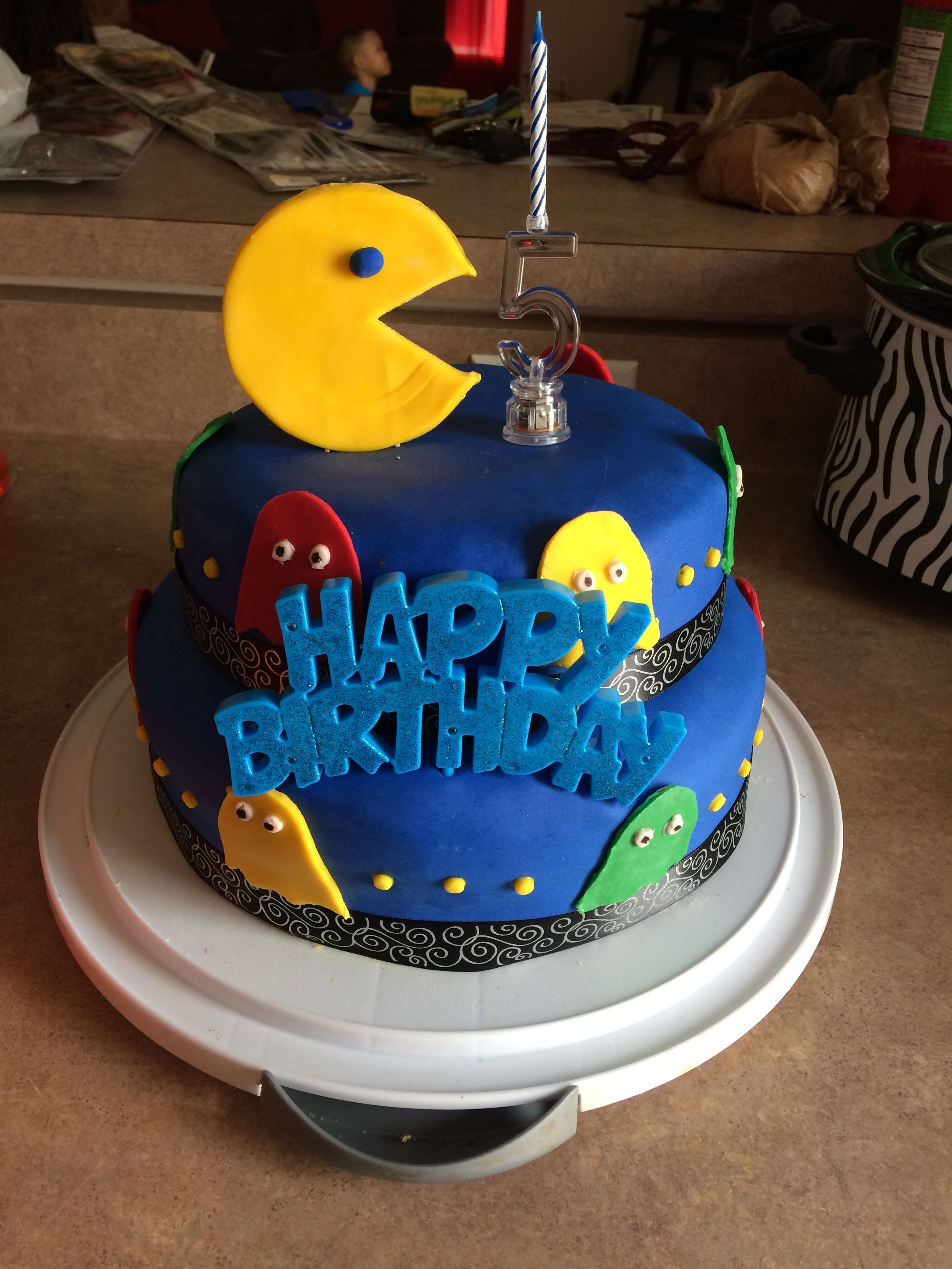 Homemade 5th Birthday Cake