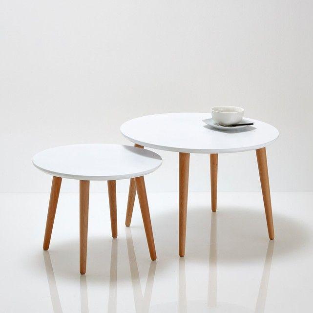 Description des tables basse gigognes Jimi Forme ronde Semi - modele de salle a manger design