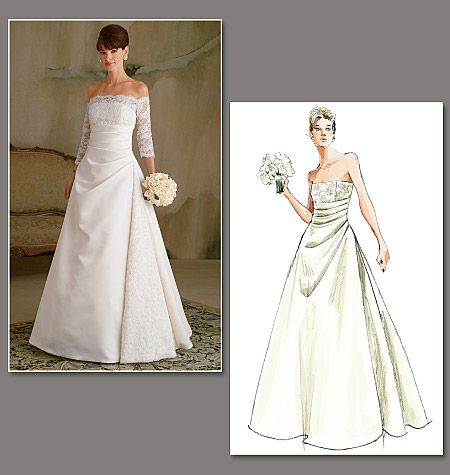 Casual wedding dress sewing patterns